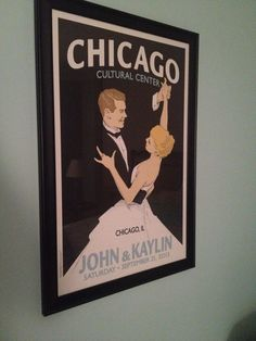 I love this vintage wedding poster.