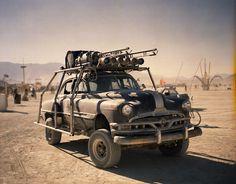 Mad Max Car at Burningman my 52 cheiftain/ 80 bronco hybrid -built by sid nicholson