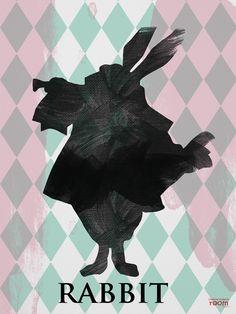 Rabbit poster 30 x 40 cm Wonderland Collection Humpty Dumpty Roon Decoration