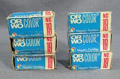 6 VTG DDR GERMANY GERMAN ORWO NC19 COLOR NEGATIVE 120 FILM ROLL UNUSED OLD STOCK - http://hooligansentertainment.com/2014/02/14/6-vtg-ddr-germany-german-orwo-nc19-color-negative-120-film-roll-unused-old-stock/