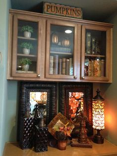 Savvy Seasons by Liz-I have an area like this and I like the mirrors and what she has done!!