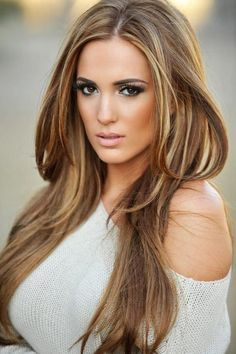 Warm blonde with honey highlights. I love this ...
