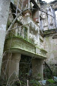 Abandoned chateau in the historic district of Haute-Vienne, France. The foundation of the chateau dates back to the 13th century. It was modified in the 19th century & was later used to house refugees in WWII. In the 1950s, a family tragedy led to the chateau's abandonment. It has been empty ever since. photos by abandonedfrance.com
