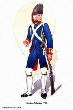 Spanish; Marine Infantry 1780.