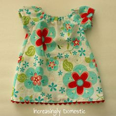 Free Baby Peasant Dress pattern (Riley Blake fabric & ric-rac hem)