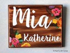 Nursery Wood Signs to welcome your little one :) Shop at kerrisartcorner.weebly.com Contact kerrisartcorner@gmail.com #personalizedsigns #woodsigns #plaques #woodplaques #nurserydecor #babyshower #babygirl #newborndecor #newborn #pregnancy #kac #kerrisartcorner