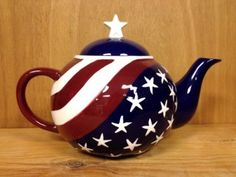 Amazon.com: American Flag Teapot Only By Ack: Home & Kitchen