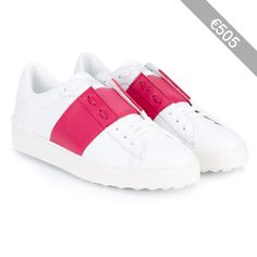 Valentino Leather Open Low-Top Trainers
