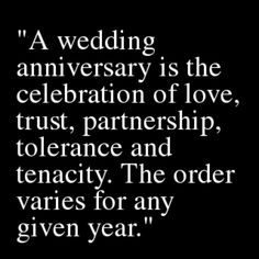 Wedding Anniversary  that would be cute to have quotes somewhere...