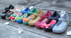 Mini Melissa Shoes... Smell the rainbow!! Toddler sizes 5 6 7 8 9 10 starting at $44.95