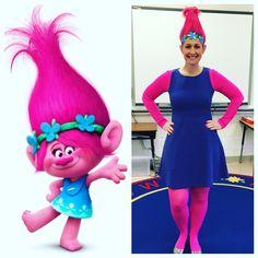 Halloween costumes for teachers! Poppy from Trolls!