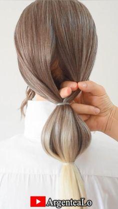 Hairdo For Long Hair, Bun Hairstyles For Long Hair, Bride Hairstyles, Hairstyles Videos, Easy Updo Thin Hair, Hairstyles With Ribbon, Easy Elegant Hairstyles, Easy Hair Braids, Medium Hair Updo Easy