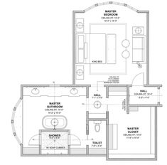 16 Best Master Suite Floor Plans (with Dimensions) – Upgraded Home Master Suite Floor Plan, Master Suite Layout, Master Bedroom Plans, Master Bedroom Addition, Bedroom Floor Plans, Floor Plan Layout, Bedroom Layouts, New House Plans, Custom Homes