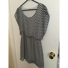 Black and white chevron dress Got this at Macy's. No signs of wear. Perfect condition. BONGO Dresses