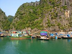 Ha long bay, floating village, Vietnam!