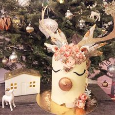 - said completely NAILED my custom reindeer cake for tonight's holiday party. Reindeer Cakes, Holiday Parties, Holiday Decor, Seasons, Christmas Ornaments, Nails, Party, Instagram, Design