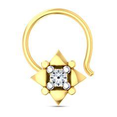 Katri Diamond Nose Pin #DiamondNosePin #NosePin #UniversalCollections #JewelCountry