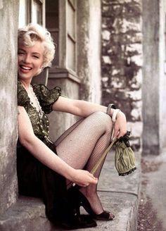 """margaretroses: """" Marilyn Monroe singing for the troops in Korea, 1954. """""""