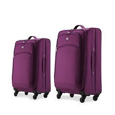 Luggage Sets Collections | Unitravel Luggage Set Expandable Spinner Lightweight Suitcase Set Apply tp 20 24 and 28inch 2024 purple >>> See this great product. Note:It is Affiliate Link to Amazon.
