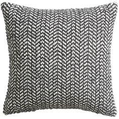 "optical chevron 18"" pillow with down-alternative insert  | CB2   30.00"