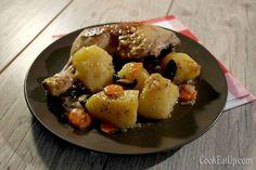 Κοτόπουλο κατσαρόλας με πατάτες Greek Recipes, Pot Roast, Potato Salad, Food And Drink, Meals, Chicken, Cooking, Breakfast, Ethnic Recipes