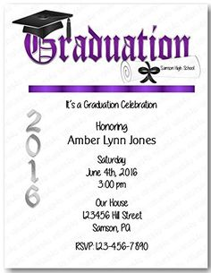 Personalized Graduation Party Invitation (graduation party904) (sold in packs of 12) >>> Check out the image by visiting the link. (Amazon affiliate link)
