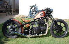 '81 kawasaki ltd440 #bobber | Bobber Inspiration | Bobbers & Custom Motorcycles