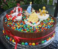 The Candy Cake power rangers and princesses skittles and kit kats!!! It's like this was MADE for Bella!