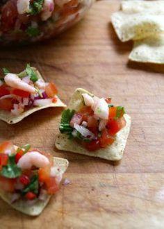 So simple. Tex Mex, Tapas, Bruschetta, Finger Foods, Allrecipes, Feta, Shrimp, Goodies, Snacks