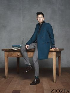cool Kim Soo Hyun for winter collection ZIOZIA 2014