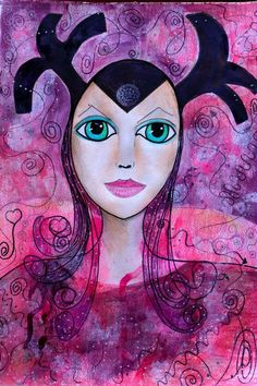 Buy Ellen of the Ways, Mixed Media painting by Riana van Staden on Artfinder. Discover thousands of other original paintings, prints, sculptures and photography from independent artists. Watercolor And Ink, Watercolor Paintings, Watercolor Portraits, Original Art, Original Paintings, Pencil Painting, Mixed Media Painting, Paintings For Sale, Buy Art