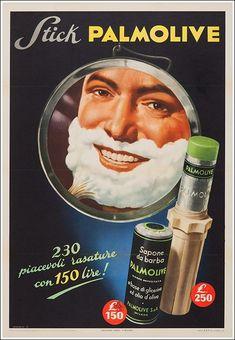Vintage Stuff and Antique Designs Vintage Italian Posters, Pub Vintage, Vintage Advertising Posters, Vintage Metal Signs, Vintage Advertisements, Poster Vintage, Shaving Stick, Old Commercials, Poster Art