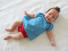 I love polka dots: Baby Peasant Dress