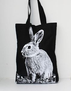 Austrarian Rabbit big size Canvas tote bag from Tshirt 99 on etsy