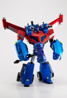 Transformers Animated Optimus Prime with Wingblade Armor