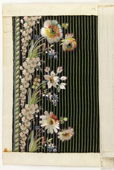Embroidery Sample (France), 1790–1800