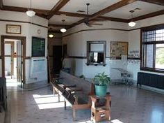 interior of rural train depot - Google Search