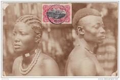 CONGO BELGE - ETHNOGRAPHIQUE - Homme et femme indigènes - 1909