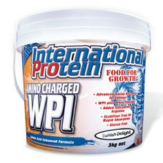 Learn a bit more about Amino Charged WPI by International Protein. This is a WPI Whey Protein Isolate protein powder that has many benefits. Whey Protein Concentrate, Protein Blend, Whey Protein Powder, Whey Protein Isolate, High Protein, Best Protein Supplement, Protein Supplements, Protein Foods, Nutritional Supplements