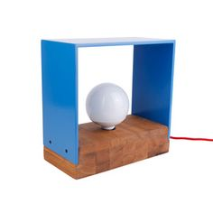 Ramma Wood Lamp Blue now featured on Fab.