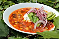 Mexicansk suppe med kylling Soup Recipes, Vegetarian Recipes, Healthy Recipes, Lchf, Cooking Tips, Cooking Recipes, Crockpot, Dinner Is Served, Vegan