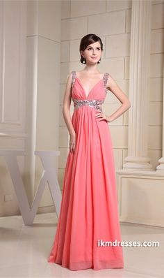 a66510f450 Chiffon Silk-like Satin Sleeveless V-neck Rehearsal Dinner Dress http    ·  Fall Wedding DressesWedding Dress ChiffonProm ...