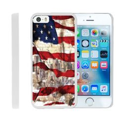 iPhone SE Slim Case, iphone 5s Cover [FLEX FORCE] Slim Durable TPU Sleek Bumper with Art Pattern Designs by Miniturtle® - New York USA Flag. Slim Layered - Moldable TPU material ensures a snug fit all around your phone, without adding any bulk. Perfect Cut-out: Precise cutouts for complete access to all buttons, cameras, speakers, and ports. Unique Designs - We offer a variety of cool, custom designs so that you may pick and choose to accessorize with your personality. Screen Protector -...