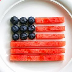 Blueberry and Watermelon Flag. Perfect for 4th of July!!