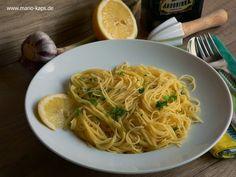 Capellini al limone - Capellini mit Zitronen-Knoblauch-Sauce - Mario´s Fire Food & Fine Food Impressum: http://www.mario-kaps.de/impressum/