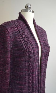 Knitting Patterns Sweaters Ravelry: Rhinecliff Cardigan pattern by Valerie Hobbs Ladies Cardigan Knitting Patterns, Love Knitting, Knit Cardigan Pattern, Knitting Patterns Free, Knit Patterns, Dress Gloves, Knit Jacket, High Collar, Cardigans For Women