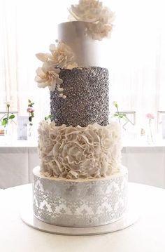 Wedding cake idea; Featured Cake: Cakes 2 Cupcakes