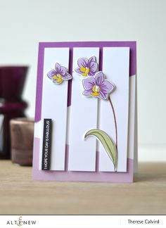 Today I'm at the Altenew blog and playing with this beautiful Oriental Orchid set, and I have a tip for you, so that you can be ready to create that 'quick on the go' card and sti…