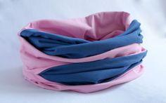 2eb417ac10f49f Szal Komin Amabell do karmienia piersią Niebieski Róż w dwóch rozmiarach  S/M (155
