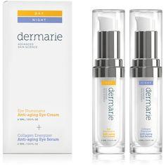 Eye Illuminator + Vitamin K Eye Cream & Collagen Energizer Ultra Hydrating Eye Serum Day/Night Set